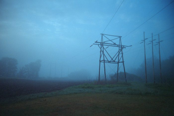12. Foggy weather makes this moody shot of power lines in Colrain eerily beautiful.