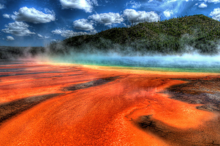 12. The Grand Prismatic Spring looks like the setting for a fairy tale that is out of this world.