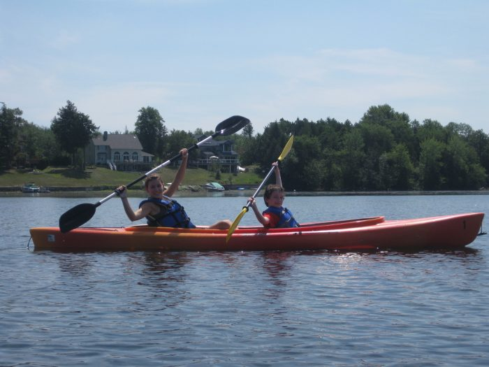 12.  Get your kayak and head to Lake Champlain.