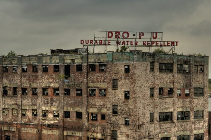 Nature Is Reclaiming The Hydro Pruf Factory In New Jersey