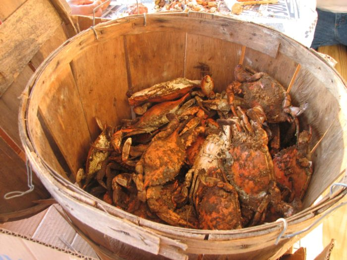 1. We eat crabs every day.