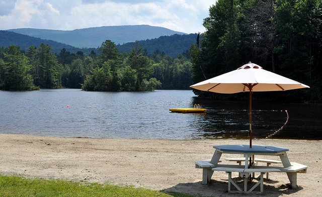 1. A lake to spend the day snacking and swimming.