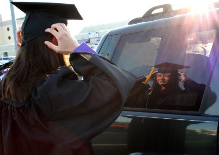 1. Most Kansas universities celebrated graduation last weekend.