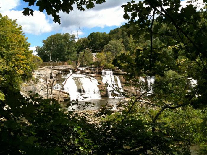 Housatonic River's Great Falls at Falls Village, CT.