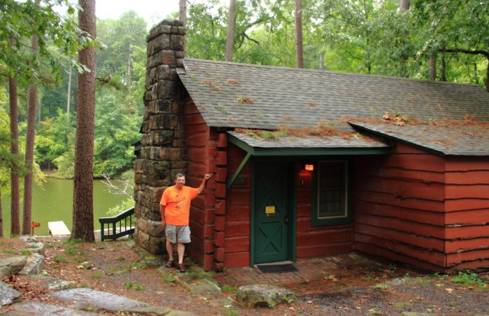 9. Rent a cabin at a state park.
