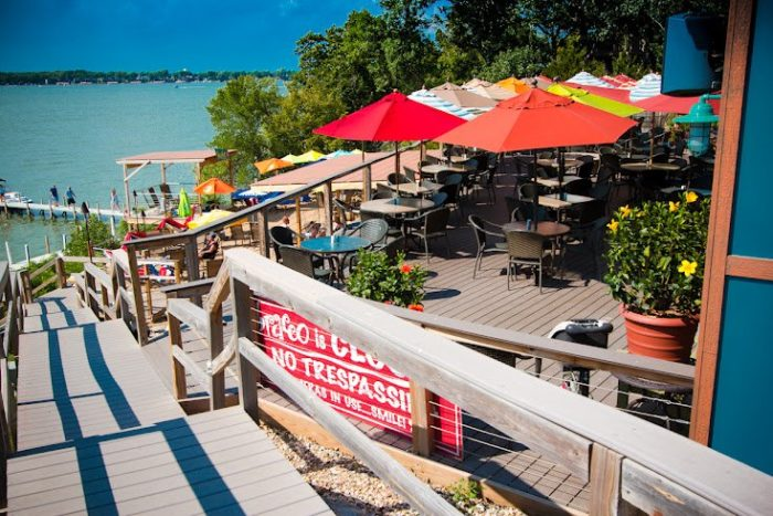 After a full day in the sun, grab a bite to eat at one of the many lakeside restaurants in the area - Bracco World Cafe is a great spot to try.