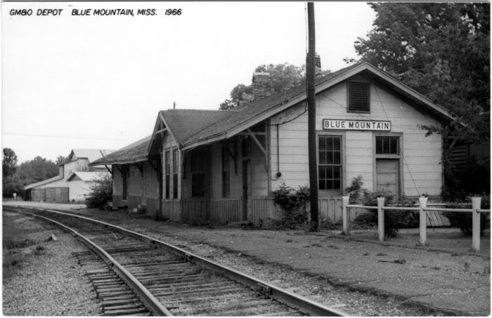 5. This former GM&O passenger station was originally located in Tiplersville but was eventually relocated to Blue Mountain.