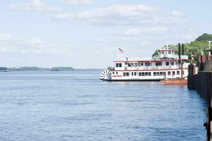 5. On a riverboat cruise to Kimmswick or Hannibal