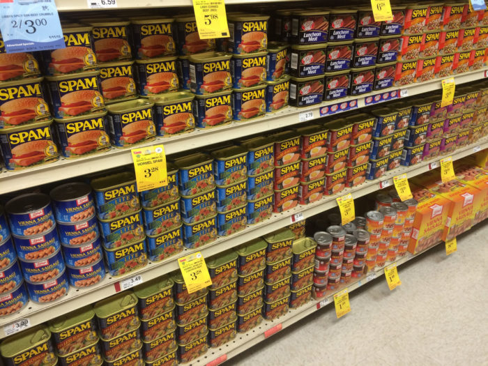 5. Spam is cheaper than other meats.