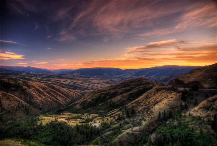 6. Often overlooked, the Salmon River Canyon is captured beautifully here.