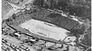 14. The former Memorial Stadium in Baltimore during a Clemson vs. Maryland game in 1955.