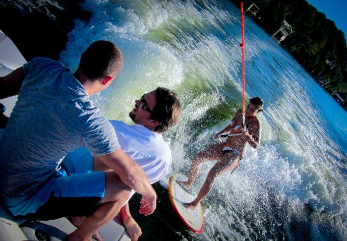 9. Go wake surfing on Lake Travis or Lake Austin.