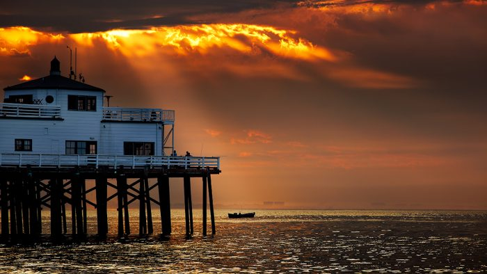 3. Malibu Pier at sunset is absolute perfection.
