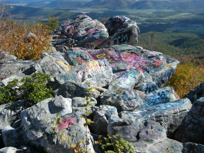 5. At Dan's Rock overlook, graffiti is tradition. It gives this spot a little something extra.