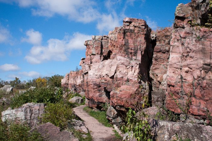 19. Explore Pipestone National Monument. A less than 1 mile accessible path serves as the main byway to experience the history of this stunning monument.