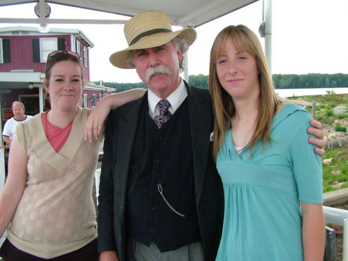 12. Posed for a photo with Mark Twain.