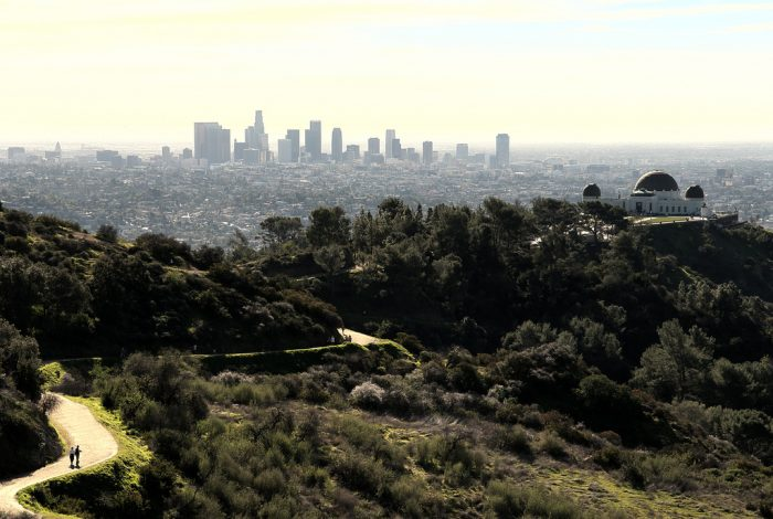 6. Views for miles from Griffith Park in Los Angeles.