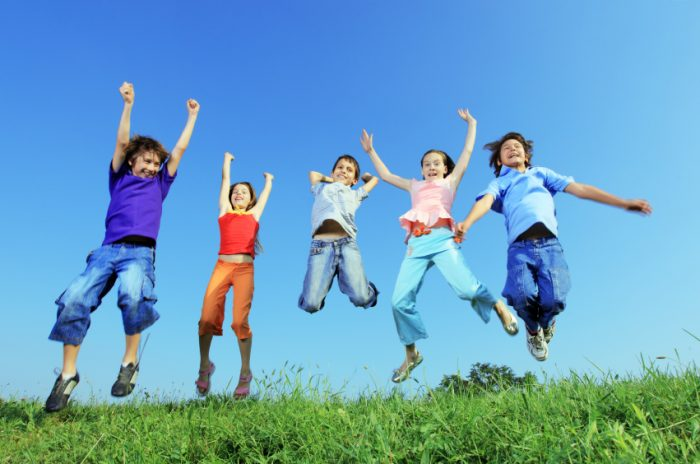 2. The sounds of children playing outside can be heard throughout the day.