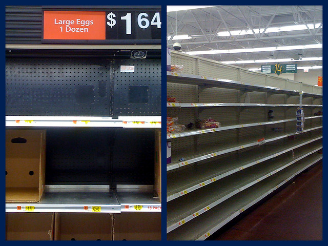 8. You think it's hilarious when people run to the grocery store to stock up on food before a snow storm.