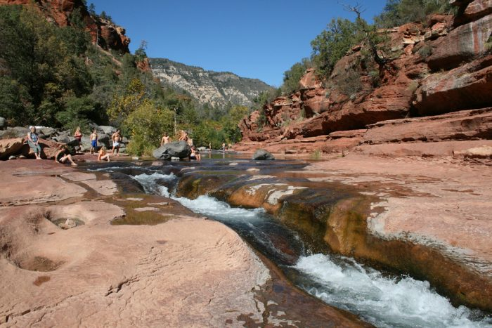 4. If you want something a little more active, you can spend an afternoon at Slide Rock State Park near Sedona.