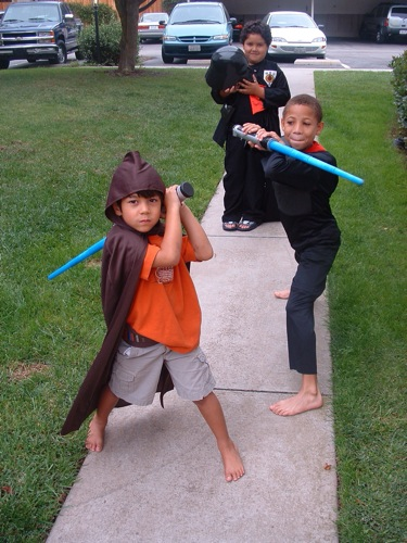 1. Children trick-or-treating on Halloween.