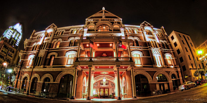 6. The Driskill Hotel is known for many things such as its beautiful architecture inside and out, its sweet location right on the busy 6th Street, and its tales of haunting spirits roaming about.