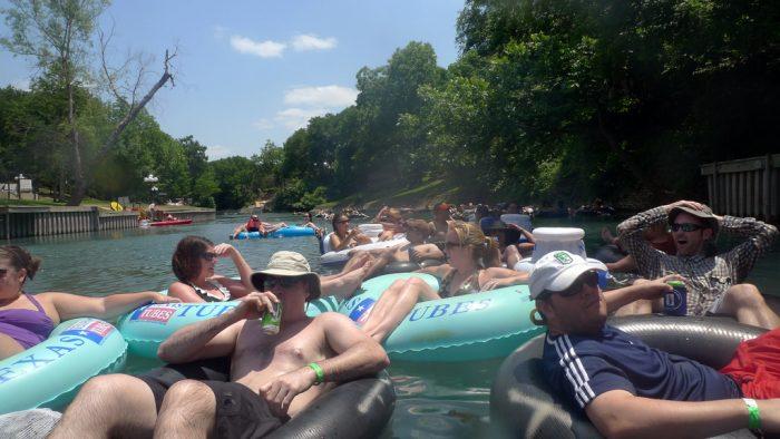 9. River tubing!