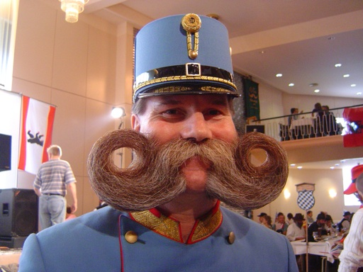 7. Moustaches are illegal if you tend to kiss others.