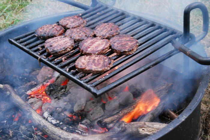 9. Grilling out by campfire in the Shenandoah Valley
