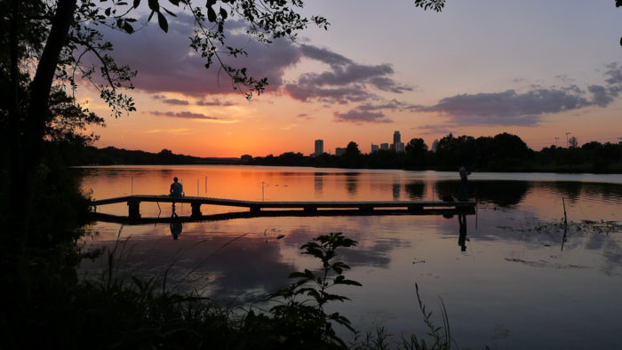 14. We have the most amazing views all throughout our city, like this one of Lady Bird Lake.