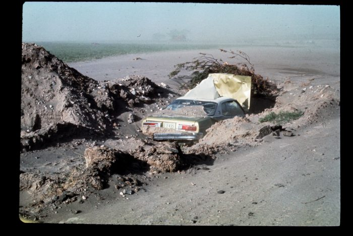 At 11:57am on June 5, 1976, without further warning, the 500-yard thick earthen wall exploded into a roaring sea.