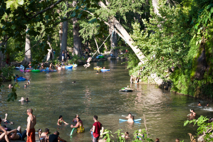 2. Krause Springs is a short 30-minute trip outside of Austin and has some ultra chill waters to cool off in.