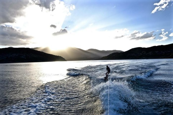 6. Catching that one last round of waterskiing at dusk.