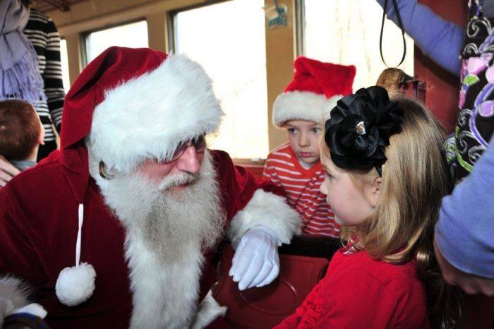 Santa on Wilmington & Western Railroad train Delaware