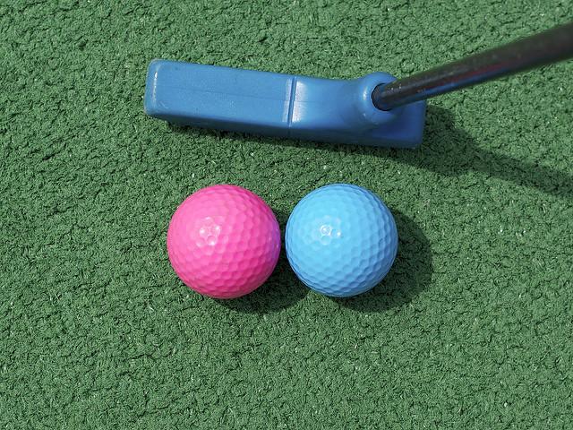 6. Play a few games of mini golf.