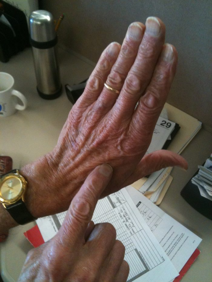 8. We show people our palm when we want to tell them where we live.