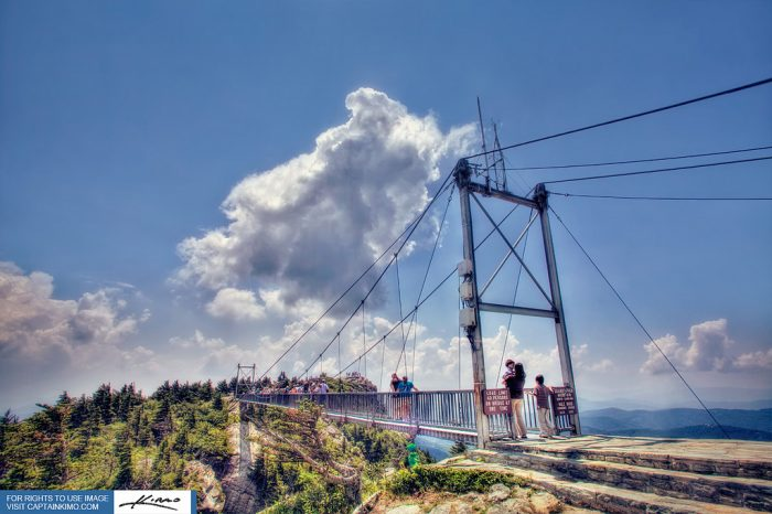 5. Even if you're scared of heights, walking across the Mile High Swinging Bridge at Grandfather Mountain is an unforgettable experience.
