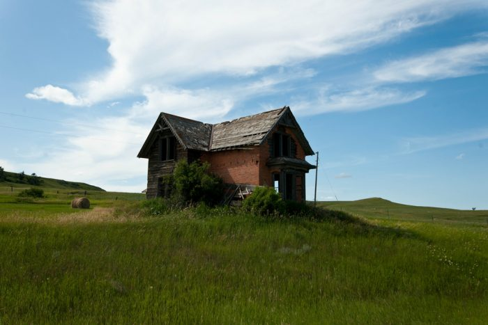 7. There's something mysterious about this old house in Sims, ND that draws me in...