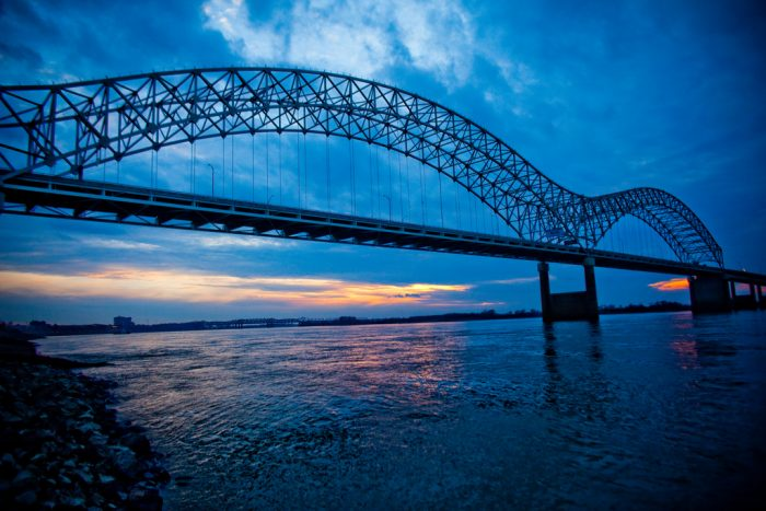 12. See the mighty Mississippi from the Arkansas shore.