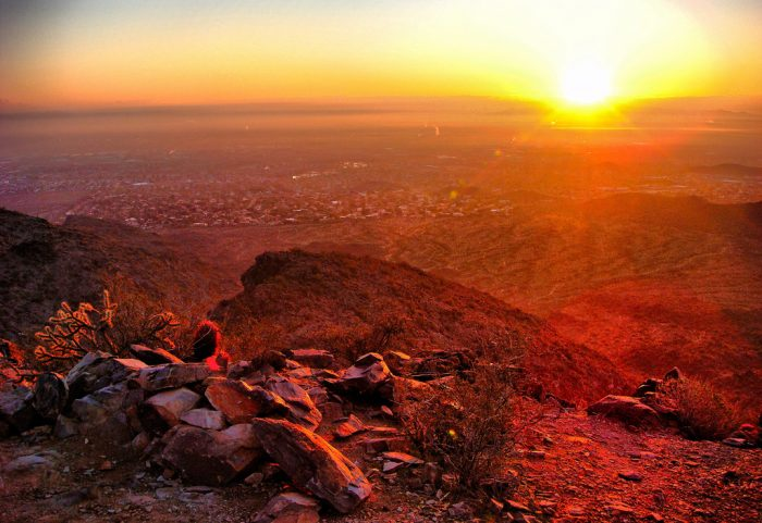 3. Or you could try a sunrise or night hike to avoid the sun's intensity.