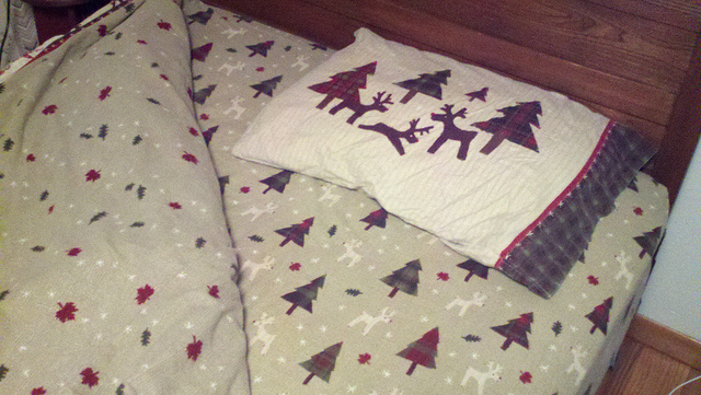 9. You own a set of sheets like this.