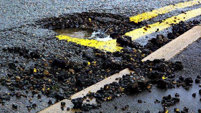 4. And potholes