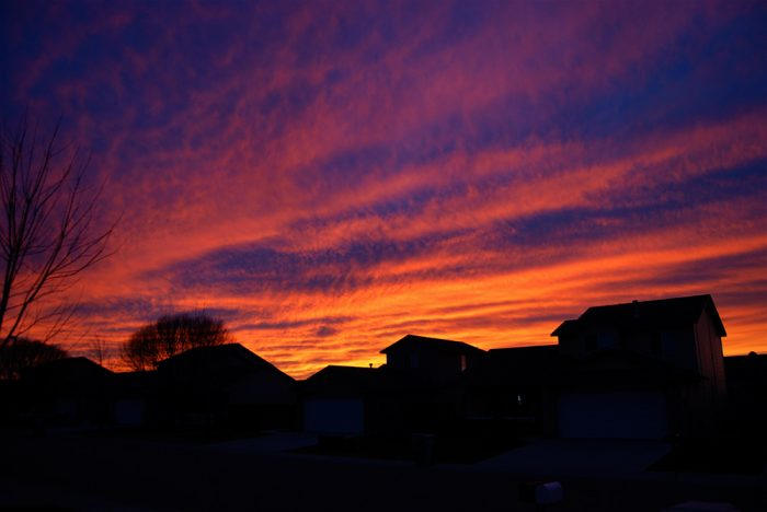 2. The bold hues of this Nampa sky are absolutely phenomenal.
