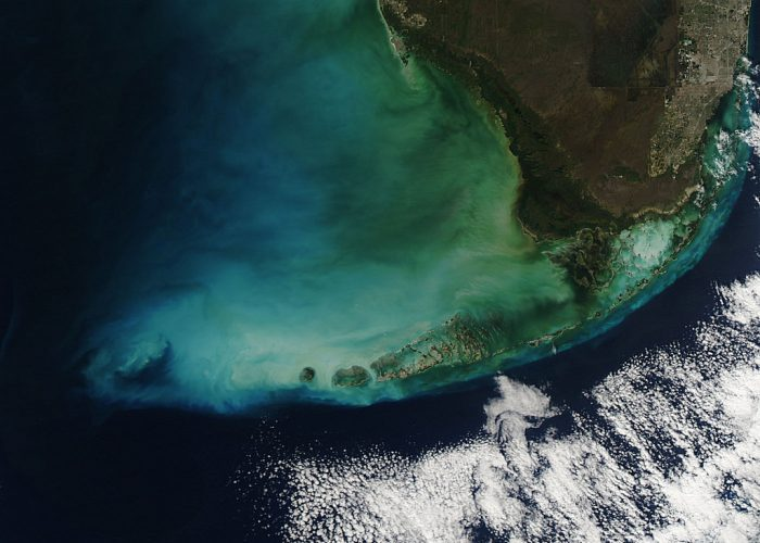 3. It turns out that the Florida Keys are just as beautiful seen from space.
