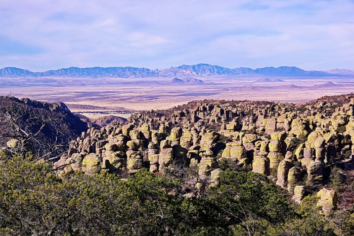 2. There are plenty of unique views you can see from the Chiricahua Mountains. Here's a popular one from Massai Point.