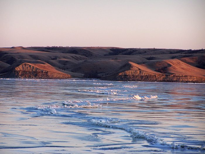 2. A chilly shot at Lake Sakakawea, remind anyone of the opening to the movie Frozen?