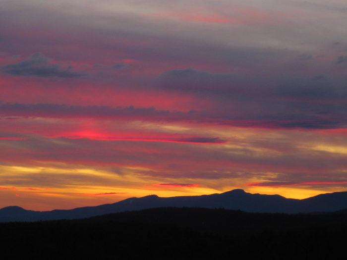 1.  Mt. Mansfield Sunset.