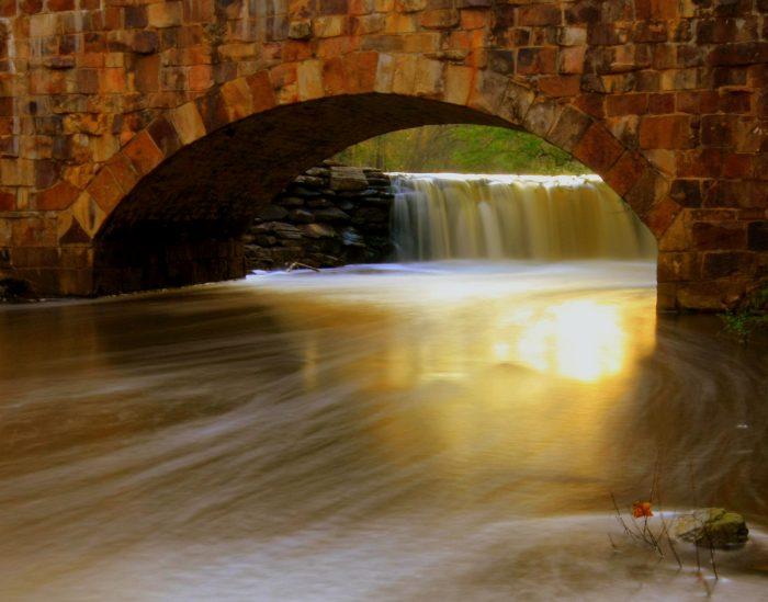 13. Look for light at Davies Bridge in Petit Jean State Park.