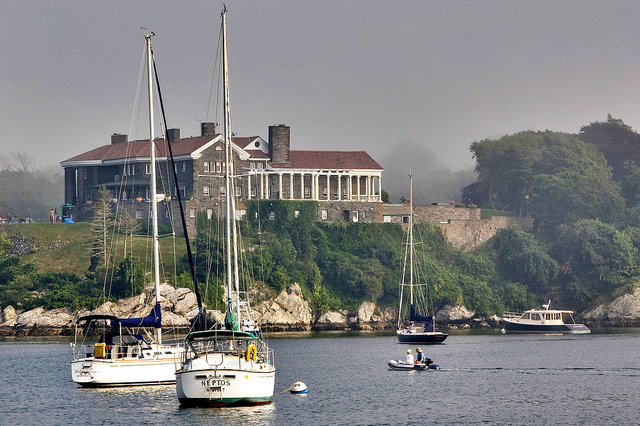 7. There's a lot to love about this picture of a harbor in Newport.
