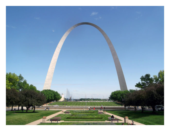 6. Missouri's Gateway Arch is the world's tallest arch, the tallest man-made monument in the Western Hemisphere, and Missouri's tallest accessible building.